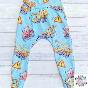 Tractors and diggers harem pants PREORDER