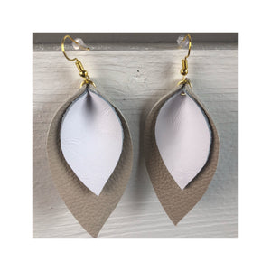 Large Double Leather Earring Style 3