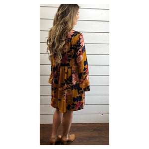 Floral Toffee Dress