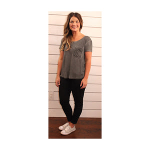Charcoal Stitch Pocket Tee