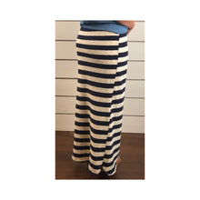 Navy Stripe Maxi Skirt