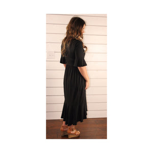 Bell Sleeve Midi - Black