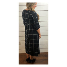 Black Windowpane Midi