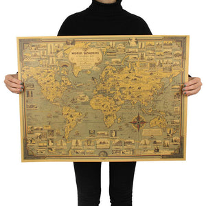 World Map Poster Wall Sticker