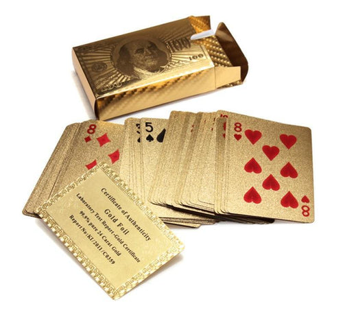 24k Golden Playing Cards Deck Durable and Water Proof