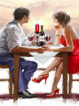Romantic dinner paint by numbers