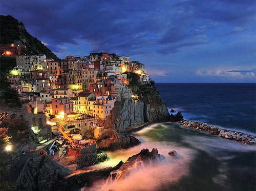 Manarola Italy paint by numbers