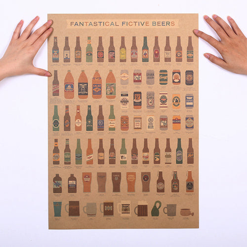 Beer Encyclopedia of Graphic Evolutionary History Poster Wall Sticker