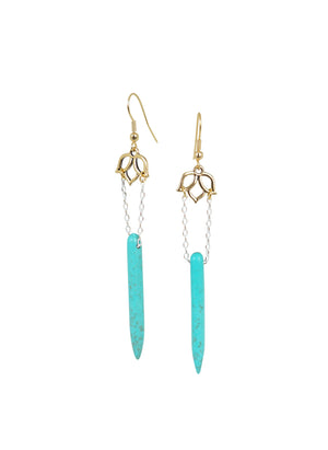 Lotus Tusk Earrings - Carolyn Hearn Designs
