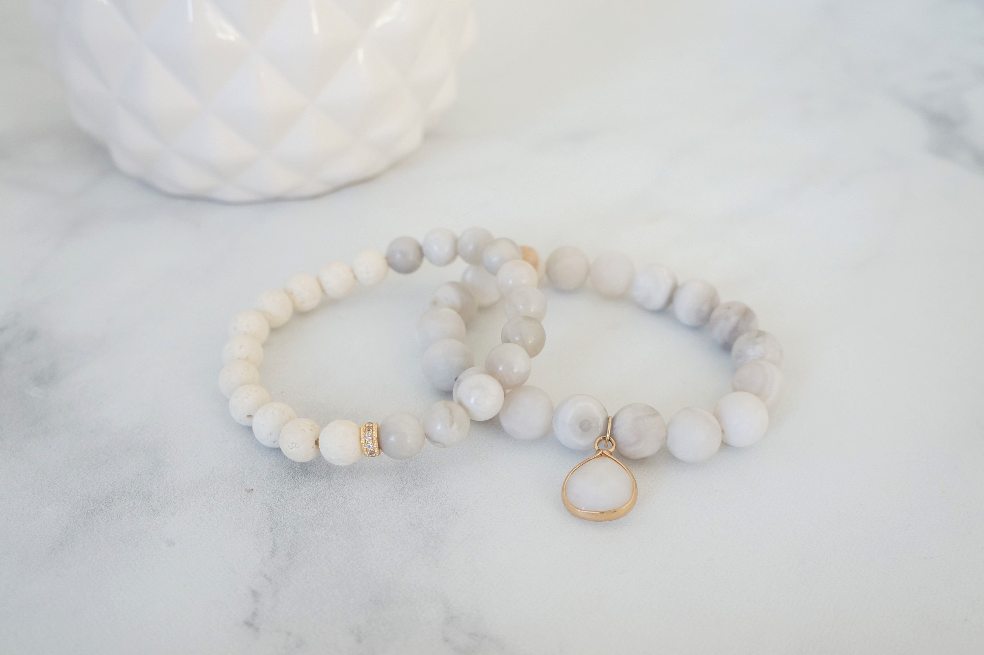 Essential Oil Enchanted Bracelet Stack - Carolyn Hearn Designs