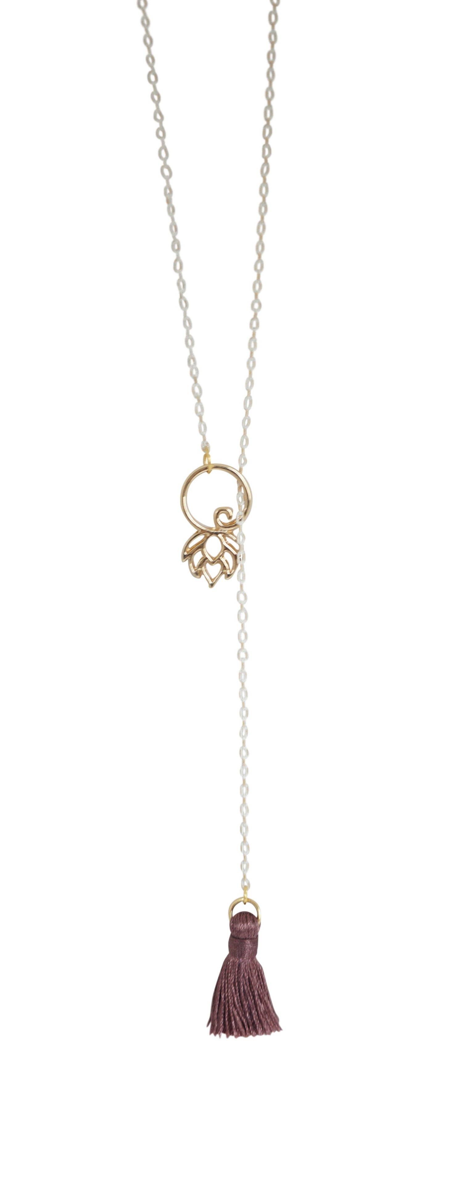 Lotus Lariat Necklace - Carolyn Hearn Designs