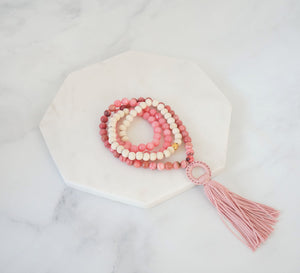 Essential Oil Blush Mala - Carolyn Hearn Designs