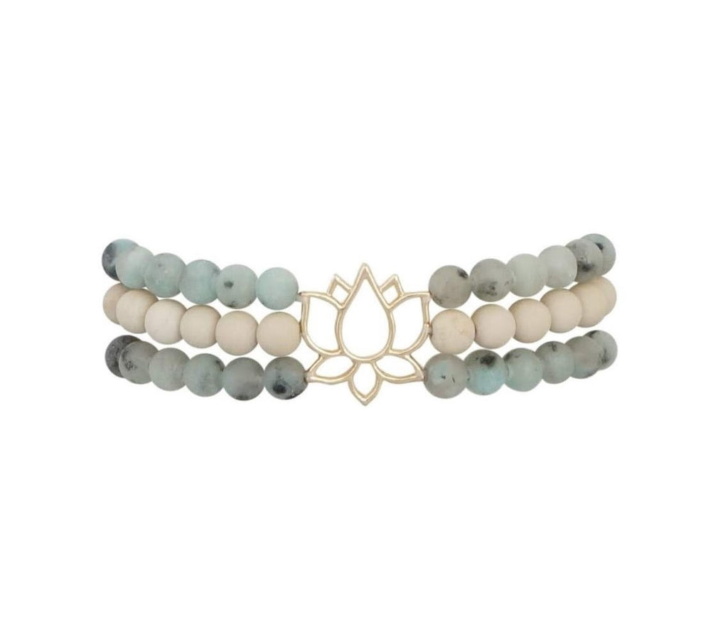 Awareness Lotus Bracelet - Carolyn Hearn Designs