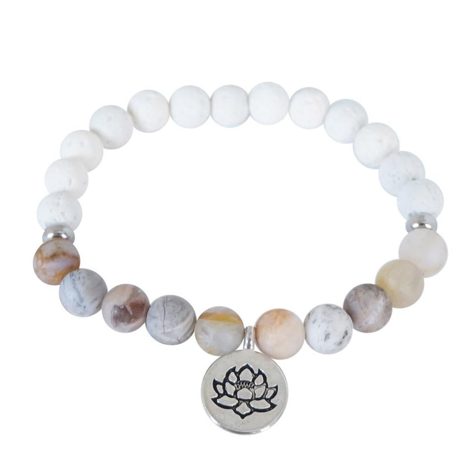 Essential Oil Lotus Bracelet - Carolyn Hearn Designs