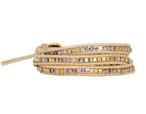 Leather Wrap Bracelet - Carolyn Hearn Designs
