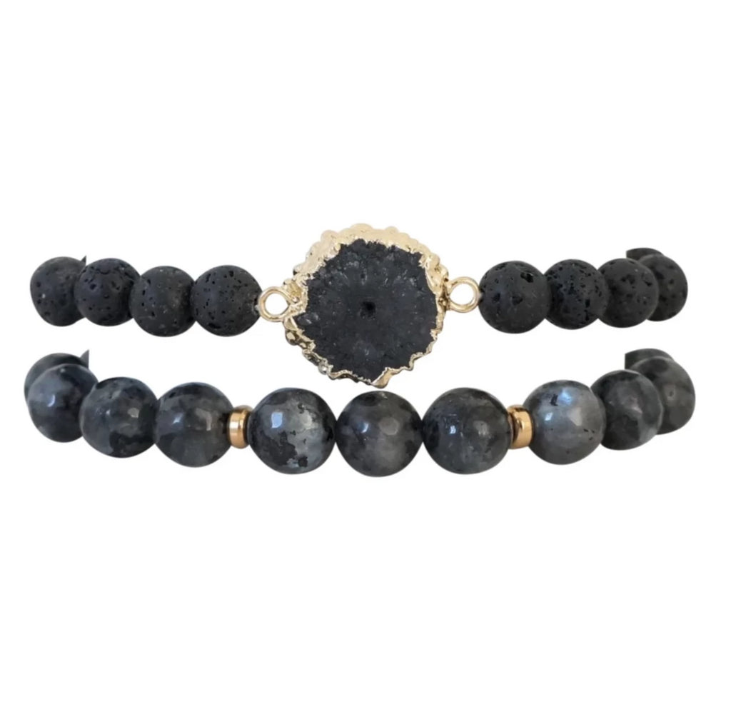 Essential Oil Power Bracelet Stack - Carolyn Hearn Designs
