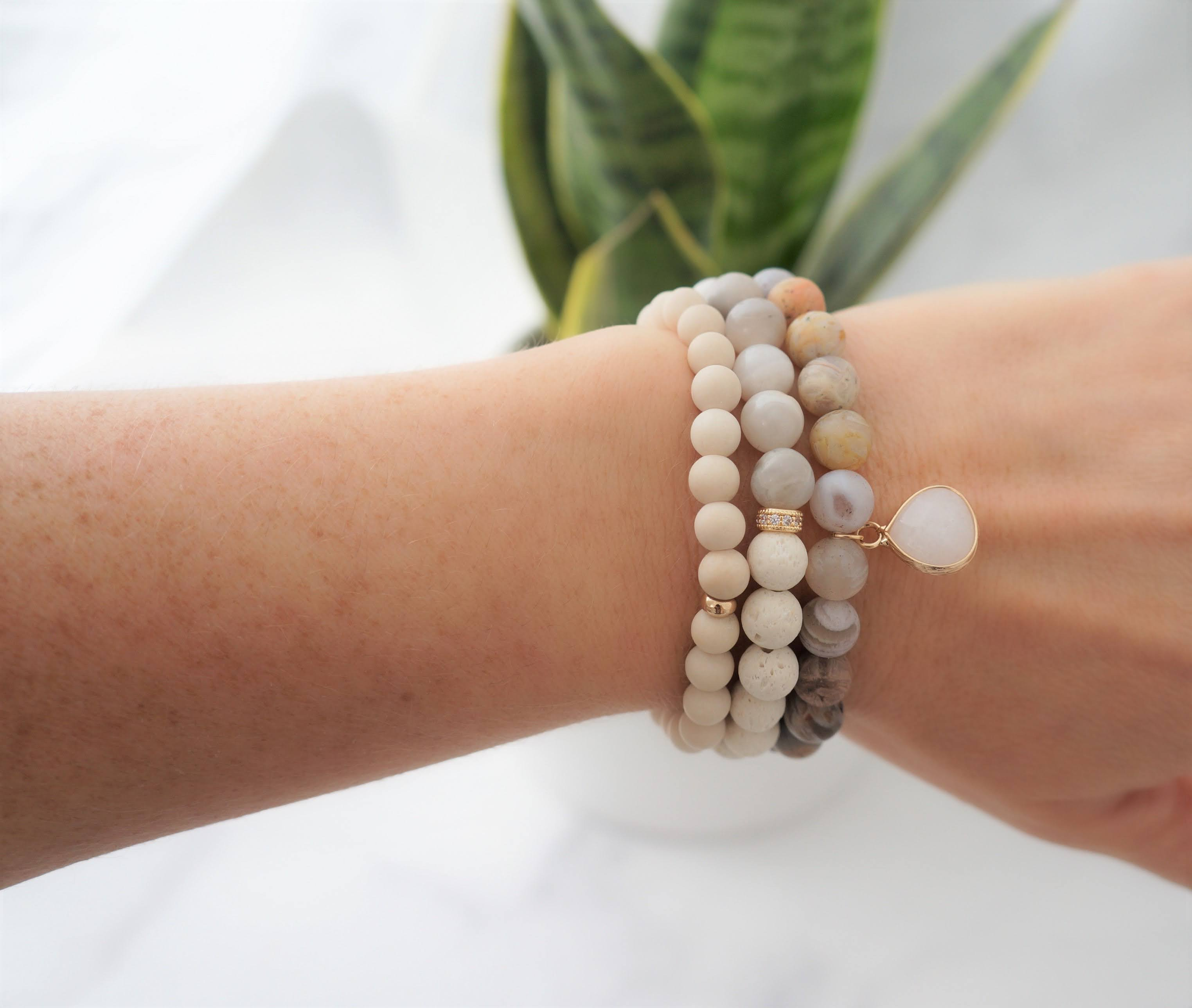 Essential Oil Unite Bracelet Stack