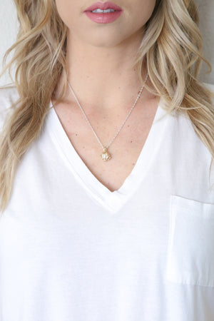 Essential Oil Lotus Necklace - Carolyn Hearn Designs
