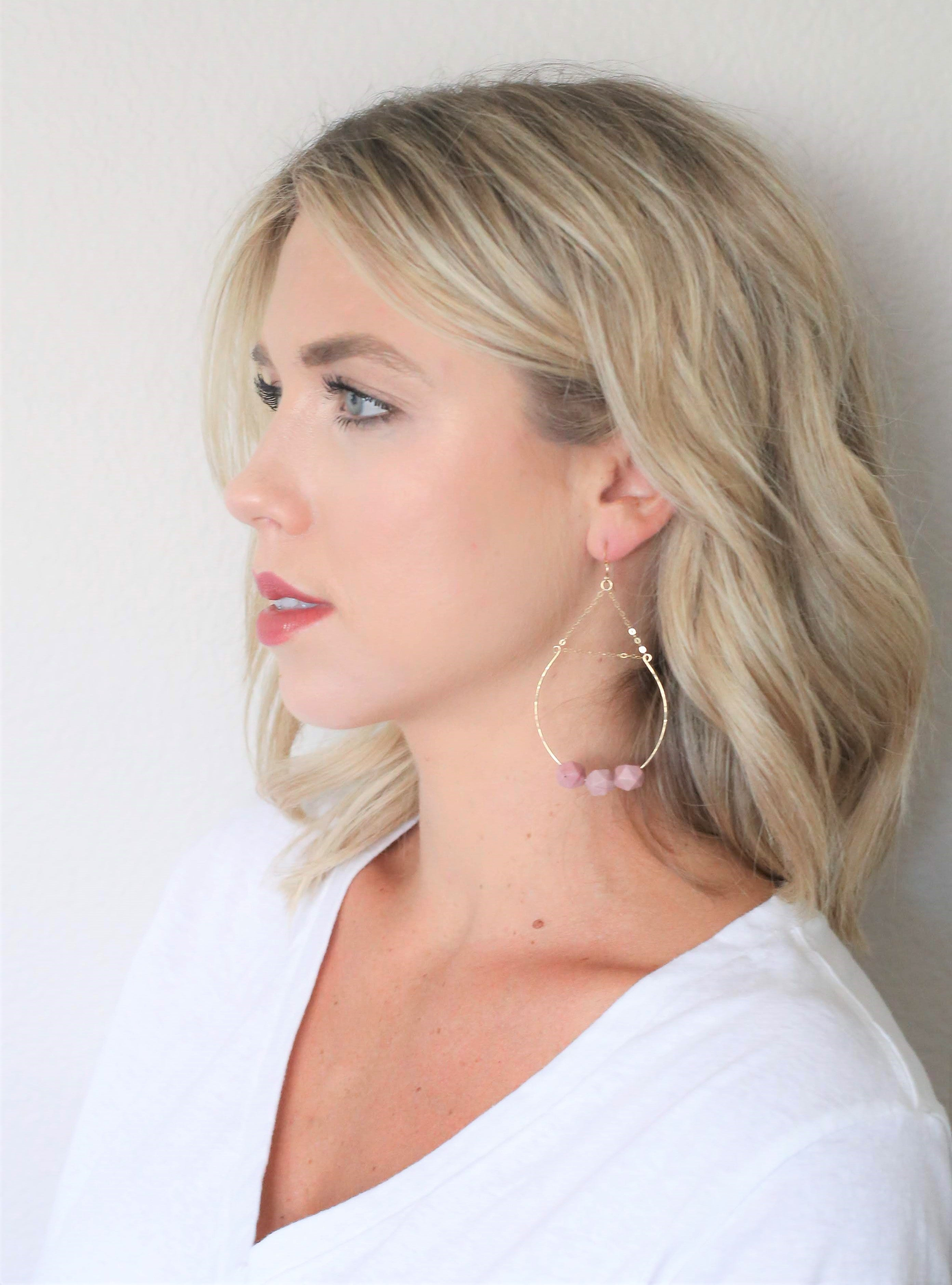 Worthy Hoop Earrings - Carolyn Hearn Designs