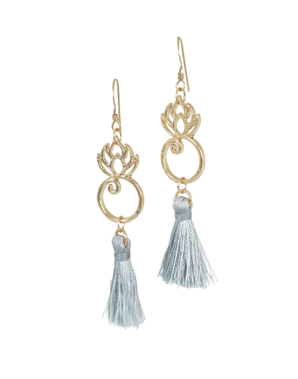 Lotus Tassel Earrings - Carolyn Hearn Designs