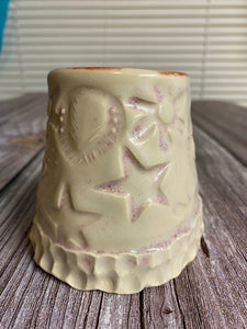 Small stamped cup