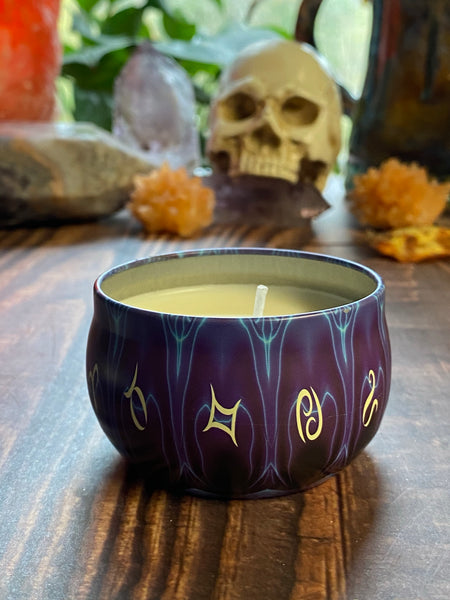 Small zodiac candles in Scent *Traveling soul*