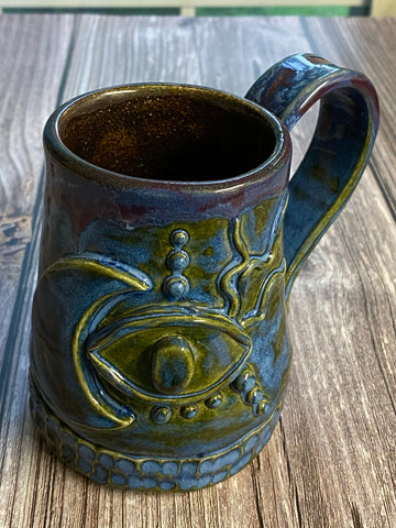 Handmade Moon and eye mug