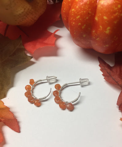 Open hoop studs perfect for fall *ready to ship*