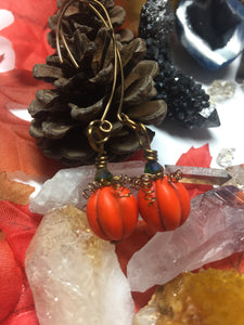 Fall pumpkin earrings *Ready to Ship*