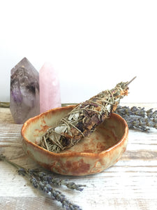 Small sage Celtic bowl