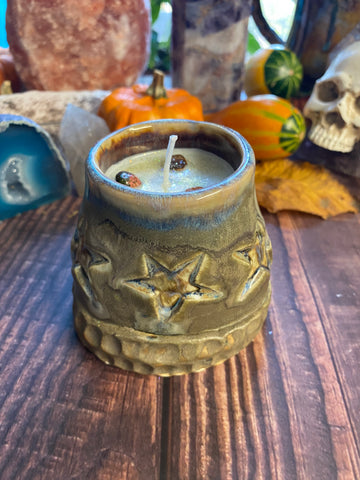 Candle in handcrafted vessel with the Scent- Autumn night 🍁