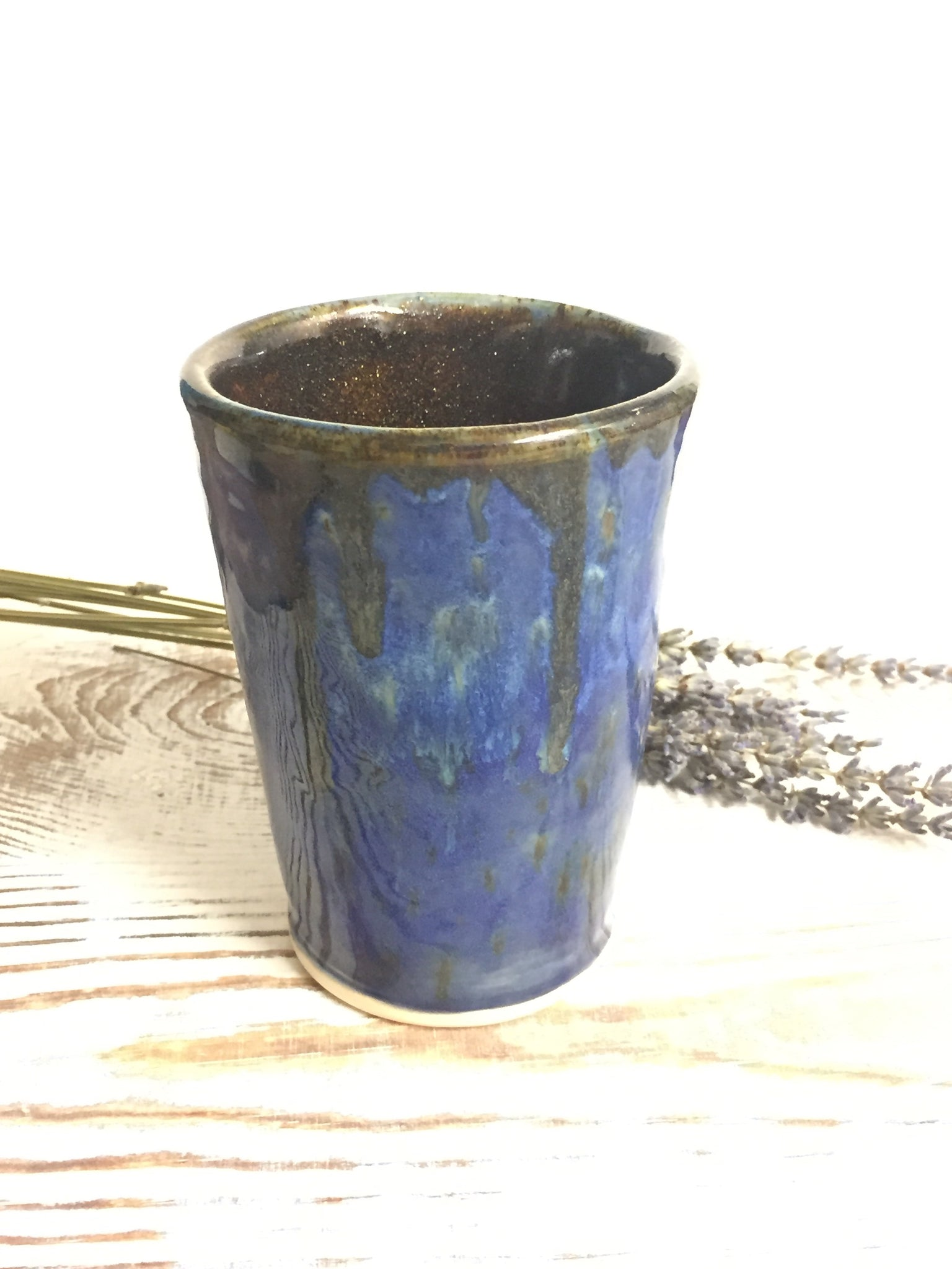 Blue sparkly cup