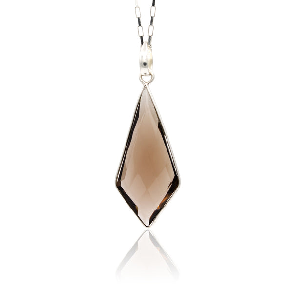 Faceted Smoky Quartz Kite Hanging