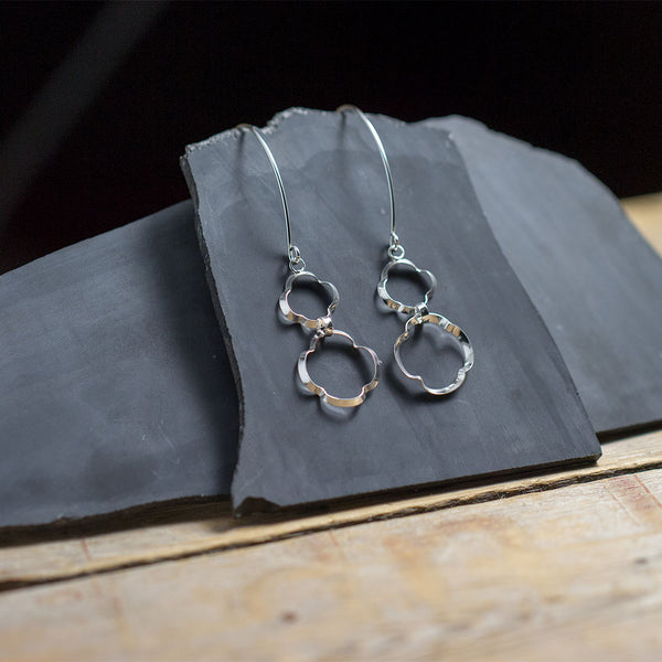 Tiered Clover Earrings