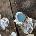 Sterling Silver Druzy Triangle Ring