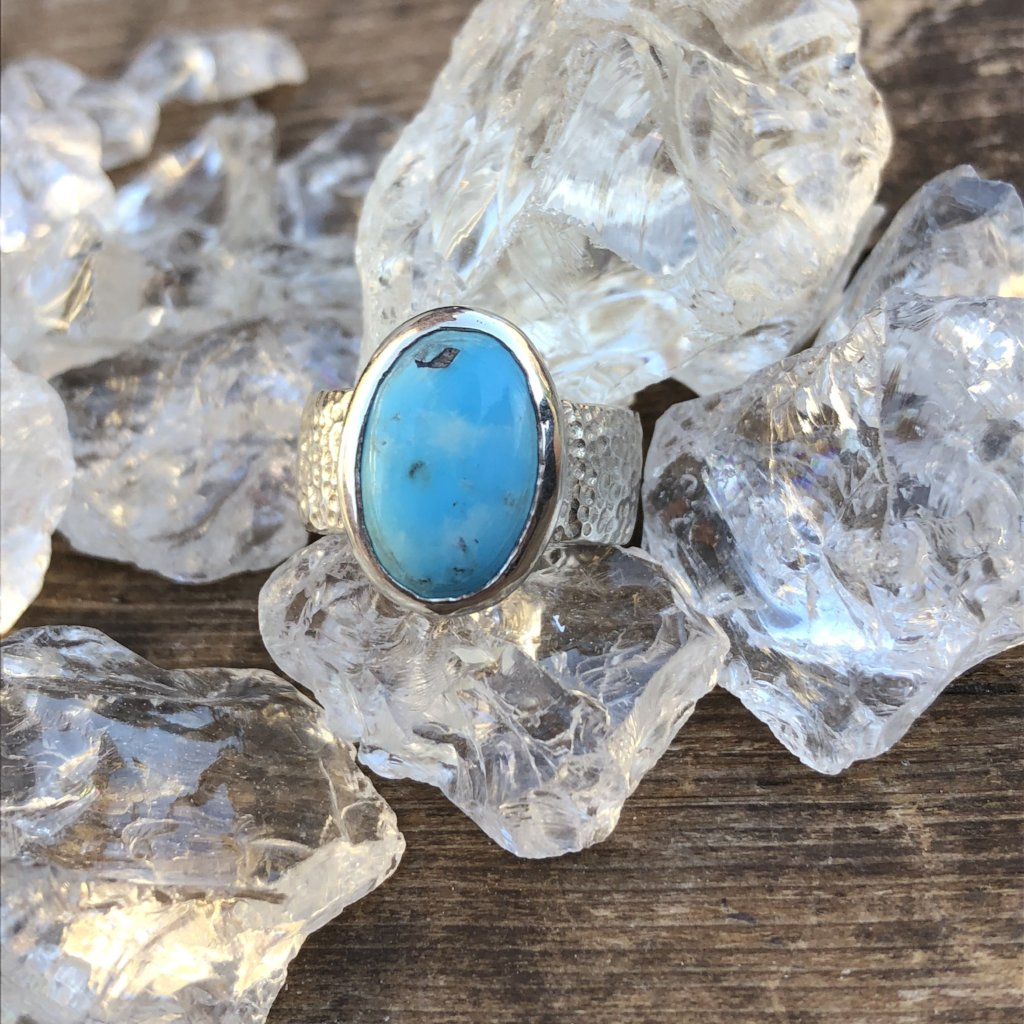 Sterling Silver Moroccan Turquoise Hammered