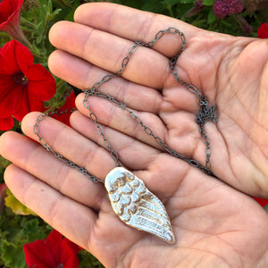 Replica Sterling Silver Angel Wing in Hands