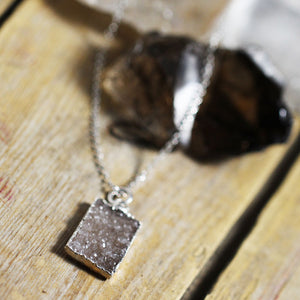 Druzy Stone Rectangle Crystals Angle