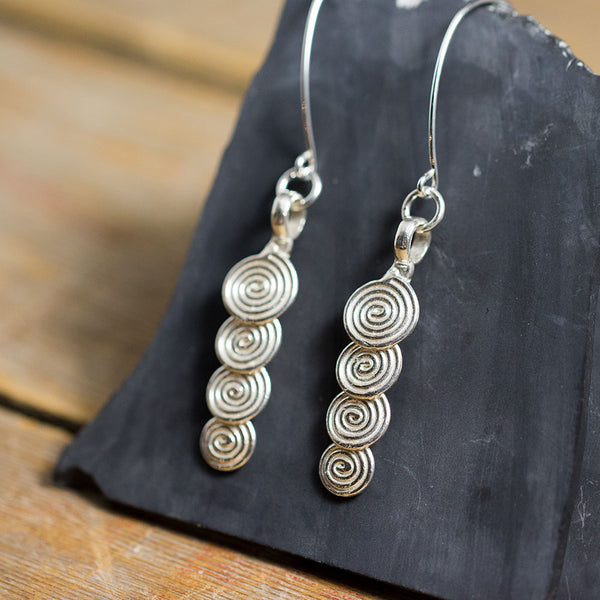 Layered Swirls Earrings