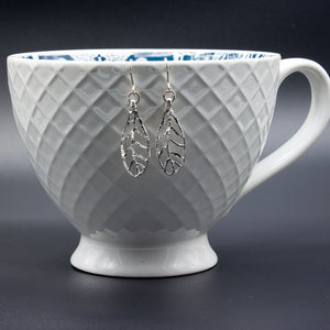 Diamond Cut Sterling Silver Leaves Full