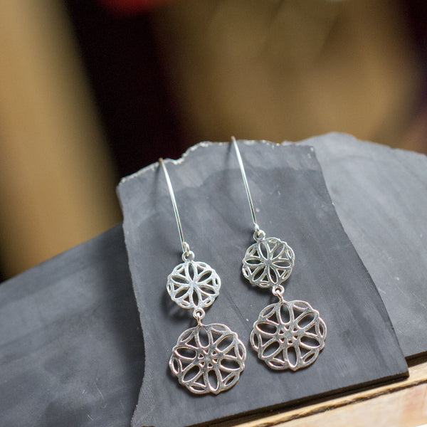 Starburst Wheel Earrings