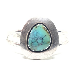 ANDREW MCCABE Sterling Silver Turquoise SHADOWBOX Cuff Bracelet Vintage