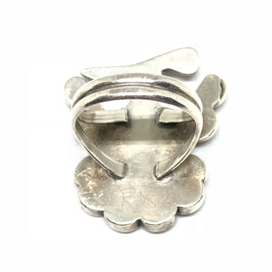 ZUNI Sterling Silver THUNDERBIRD Multistone Large Ring Size 6.5