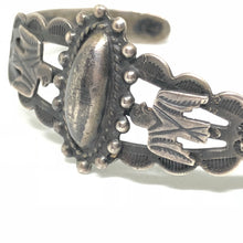 HARVEY ERA Sterling Silver THUNDERBIRD Navajo Dome Cuff Bracelet