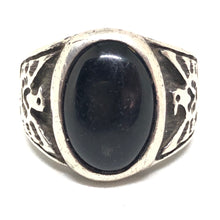 THUNDERBIRD Sterling Silver Black ONYX Southwest Mens Ring Size 11.75