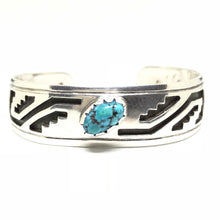 OVERLAY Sterling Silver Turquoise Cuff Bracelet ROBERT JOHNSON