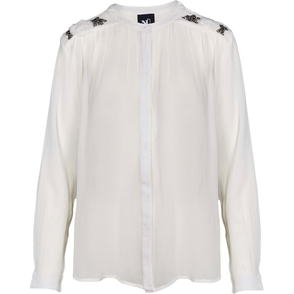 Nu Denmark Creme Shirt With Beads