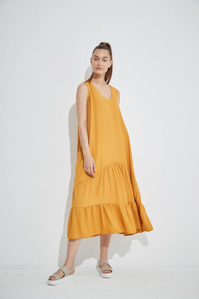 Tirelli Tiered V Neck Dress