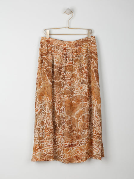 Indi & Cold Flowing Marble Print Skirt
