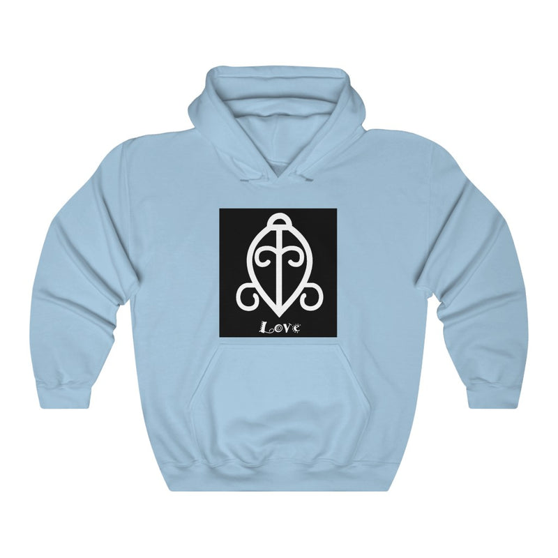 Love - ADINKRA  Unisex Heavy Blend™ Hooded Sweatshirt